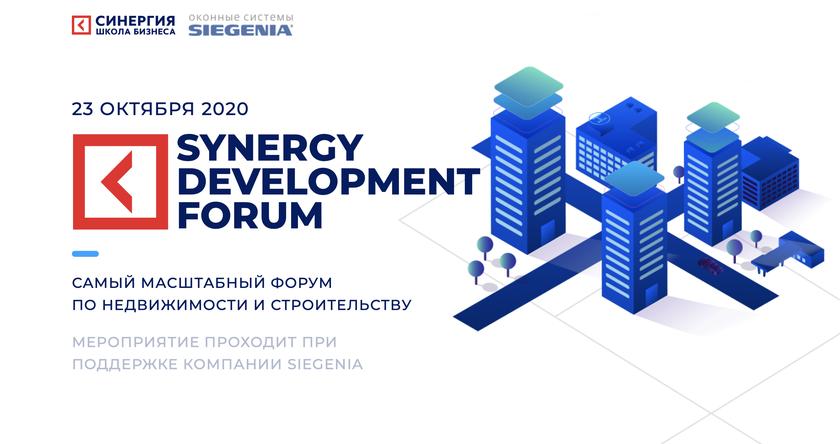 SYNERGY DEVELOPMENT FORUM 2020 баннер